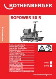 BA ROPOWER 50 R, 5.6050,5.604... - Rothenberger