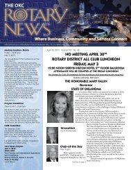 5-3-13 OKC Rotary News - Rotary Club of Oklahoma City