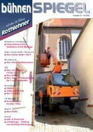 ... seit über 30 Jahren - Rothlehner Arbeitsbühnen