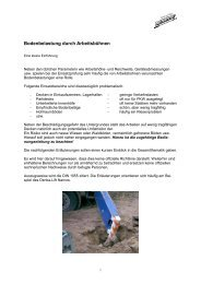Bodenbelastung durch Arbeitsbühnen - Rothlehner Arbeitsbühnen