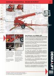 Anhänger Arbeitsbühne Modell DL18/DL21 - Rothlehner ...