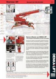 Narrow lift Modell DL19N/DL22N - Rothlehner Arbeitsbühnen
