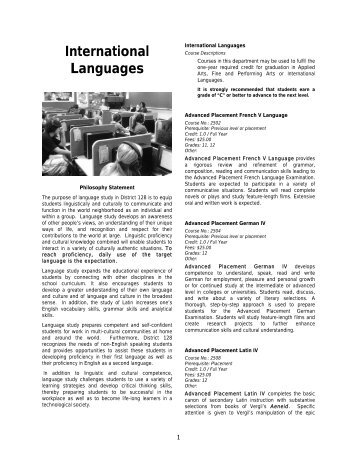 Curriculum Guide - Libertyville High School