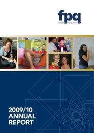 39th Annual Report 2009-2010 - Family Planning Queensland