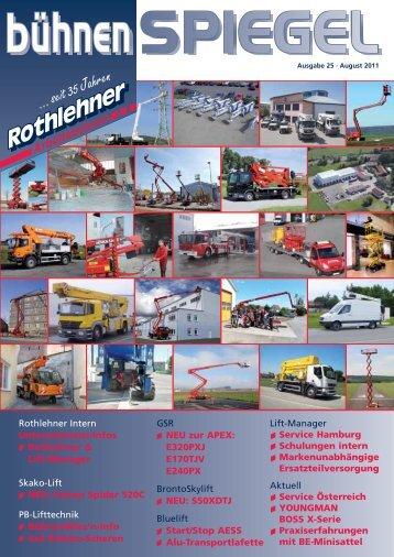 ... seit 35 Jahren - Rothlehner Arbeitsbühnen