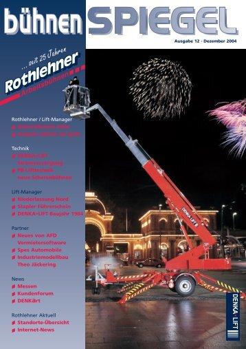 ... seit 25  Jahren - Rothlehner Arbeitsbühnen