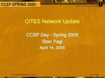 CITES Network Update