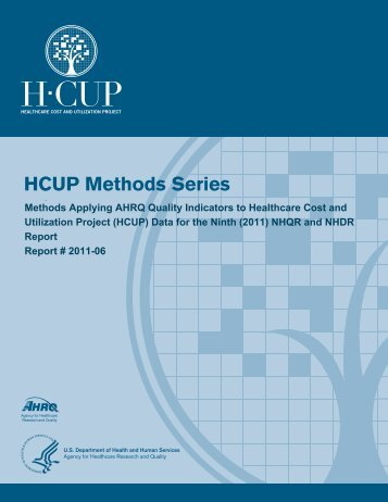 Methods Applying AHRQ Quality Indicators to Healthcare ... - HCUP