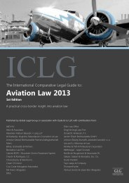 The International Comparative Legal Guide to: Aviation Law 2013