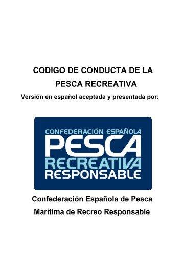 codigo de conducta de la pesca recreativa - Confederación ...