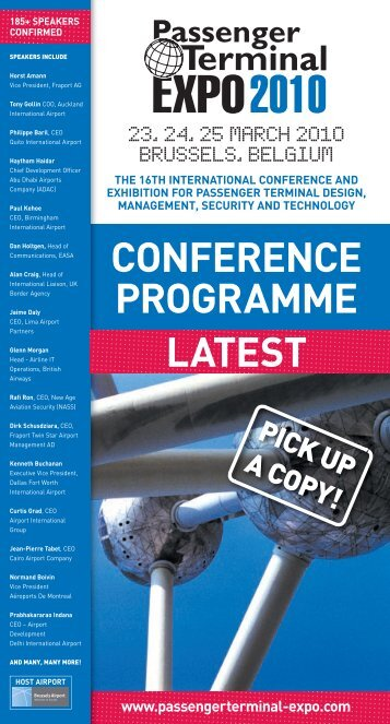 CONFERENCE PROGRAMME LATEST - Passenger Terminal Expo