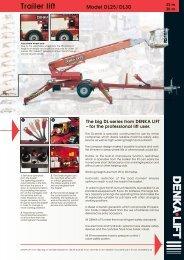 Trailer lift Model DL25/DL30