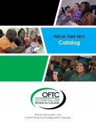 Fiscal Year 2013 Catalog - OFTC.edu