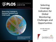 Selecting Coverage Indicators for Global Monitoring - Countdown to ...