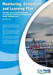 Monitoring, Evaluation and Learning Plan Monitoring ... - Cap-Net