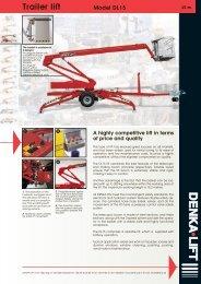 Trailer lift Model DL15