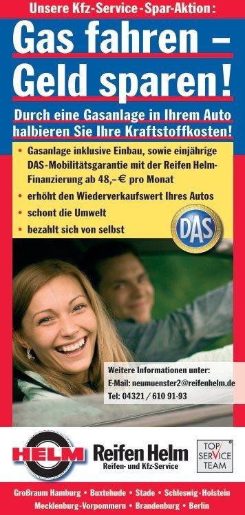 Gas fahren – Geld sparen! - Top Service Team