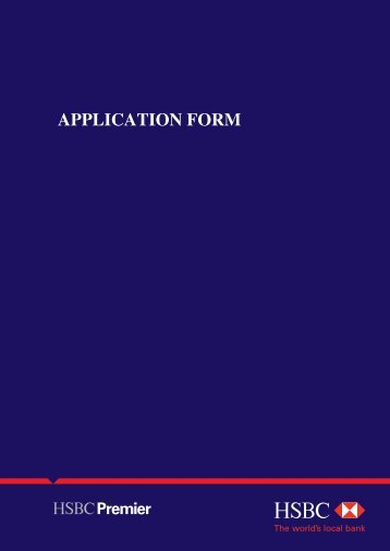 Download application form - HSBC Sri Lanka