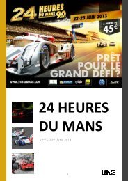 2013 Le Mans 24 updated 29 April 2013. pptxx - IMG Programming ...