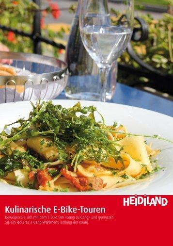 Flyer Kulinarische E-Bike Touren - Heidiland