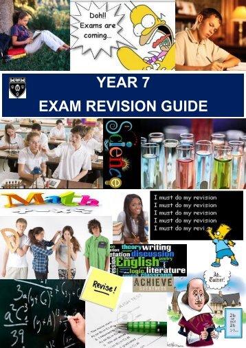 YEAR 7 EXAM REVISION GUIDE - Arthur Mellows Village College