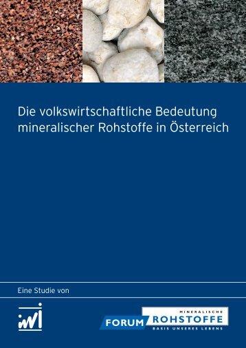 IWI Studie Kurzfassung DE - 16 Seiten (1.351 KB ... - Forum Rohstoffe