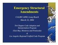 Emergency Structural Amendments - Reaco.org