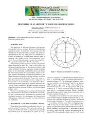properties of an arithmetic code for geodesic flows - mtc-m19:80 - Inpe