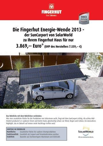 Die Fingerhut Energie-Wende 2013 - der SunCarport von ...