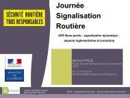 La signalisation dynamique : les aspects ... - Sécurité routière