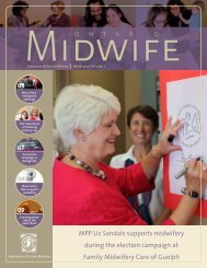 Winter 2012 - Association of Ontario Midwives
