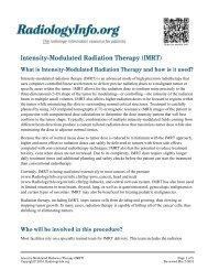 Intensity-Modulated Radiation Therapy (IMRT) - RadiologyInfo