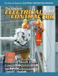 Spring 2008 - Electrical Contractors Association of Ontario
