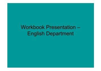 Workbook Presentation Policy 2010 - North Walsham High School