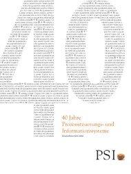 2008 sind wir im schwierigen wirtschaftlichen Umfeld bei ... - PSI AG