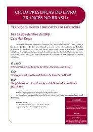 ciclo presenças do livro francês no brasil: traduções, ensino e ...