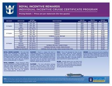 Price Chart (PDF) - Royal Caribbean