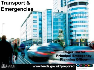 Emergency Planning in West Yorkshire