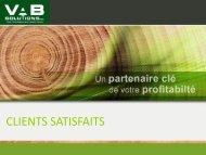 partenaires d'affaires satisfaits - VAB Solutions