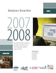 Analyses bivariées - Enquête sur les formations à distance de l'AUF