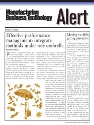 Effective performance management: integrate methods under ... - SAS