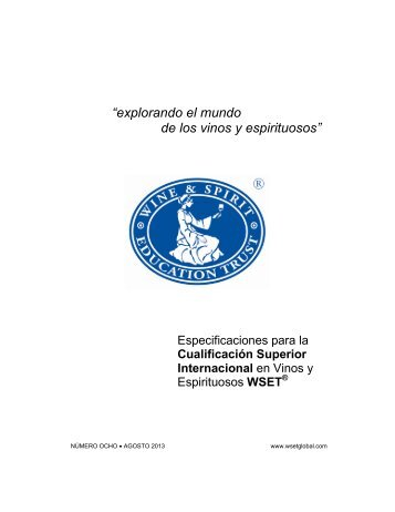 Spanish International Higher Certificate in Wines and Spirits ...