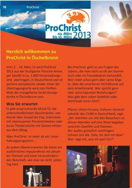 ProChrist 2013 in Öschelbronn - Evangelische Kirchengemeinde ...
