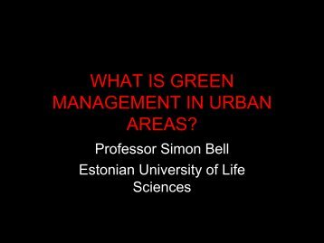 what is green management in urban areas? - Greenman Project