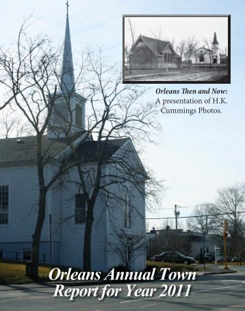 Orleans Annual Town Report for Year 2011 - Town Of Orleans