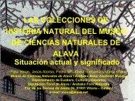 Las colecciones de Historia Natural del MCNA. Situación - Gbif.es