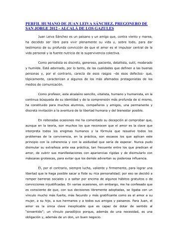 perfil humano de juan leiva sánchez, pregonero de san jorge 2012