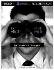 LA VÉRITÉ LA VIE PRIVÉE - Advertising Standards Canada