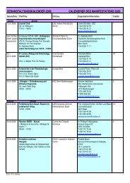 KONGRESSE UND VERANSTALTUNGEN 2003 - SGAI