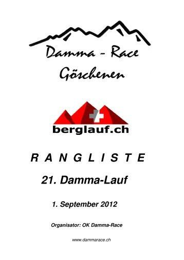 Rangliste 2012 pdf - Damma-Race